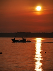 陸奥湾の朝