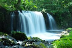 短い夏の奥入瀬渓流 銚子の滝