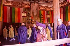 鎌倉長延寺。。。朝のあ勤め風景
