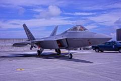 沖縄嘉手納基地から来たステルス戦闘機F-22Aラプター①・・・20120818