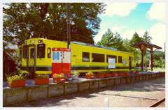 いすみ鉄道。。上総中野から出発待つ