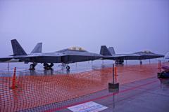 ラプター2機の地上展示・・三沢基地