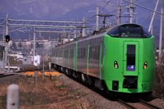 新青森駅に特急スーパー白鳥・・函館へ