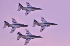 芦屋基地航空祭でのブルーインパルス展示飛行 ダイヤモンドダーティーターン・・