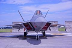 沖縄嘉手納基地から来たステルス戦闘機F-22Aラプター②・・・20120818