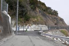 浜当目トンネル 静岡側旧道分岐5