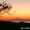 秋晴れた日の富士山