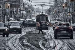 雪降る街にて