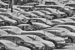 雪x駐車場