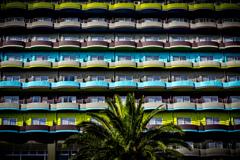 Colorful terrace