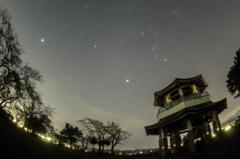 木星と冬の大三角