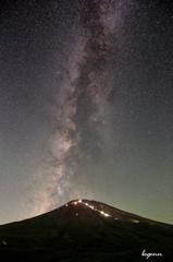 Fuji and the Milky Way
