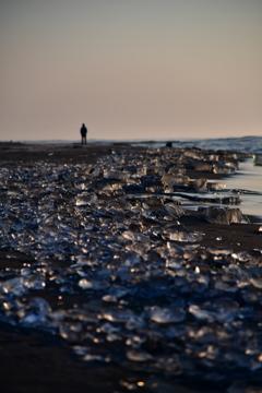 早朝の大津海岸