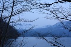支笏湖夕景