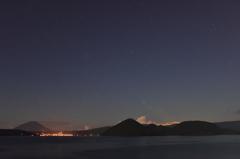 洞爺湖と北斗七星