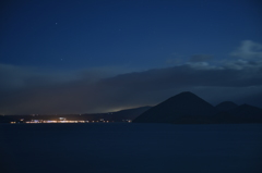 夜の洞爺湖