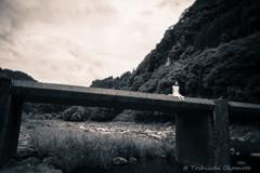 沈下橋に座る。。。Shiho