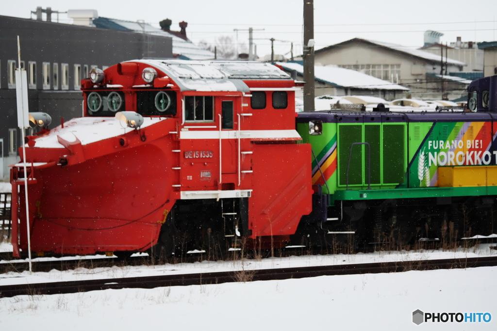 ノロッコTRAINとラッセル車