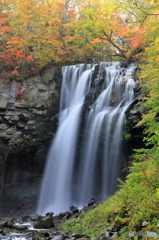 紅葉狩り 札幌アシリベツの滝