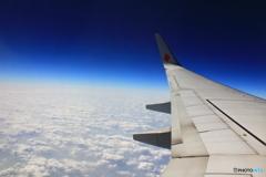 飛行機の上空