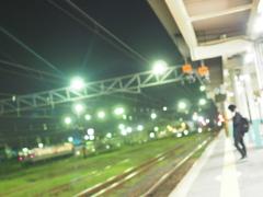 At the night platform
