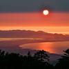 大山からの夕日