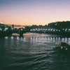 the evening from Azuma-bashi bridge