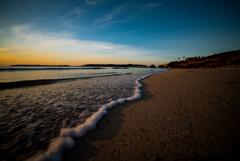 冬空とサンセットビーチ