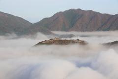 秋の竹田城