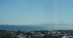 山口県宇部市から国東半島を見る