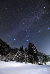 Winter starry sky of February*2