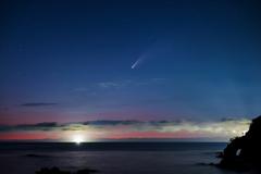 鳥取でやっと見えたネオワイズ彗星*1