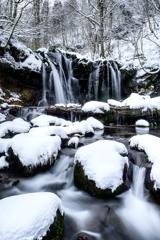 雪の猿壺の滝*1
