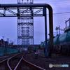 貨物線・送電線と工業用水
