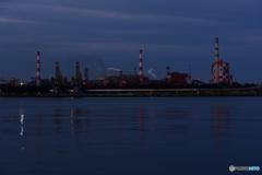 工場夜景と富士山のはずが。。