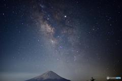 富士に弾ける銀河