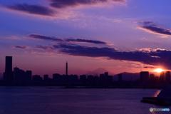 MM21の日没
