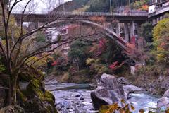 紅葉の御岳橋