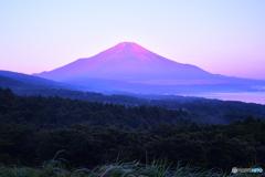真夏の赤富士
