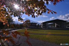 富士と屋外劇場