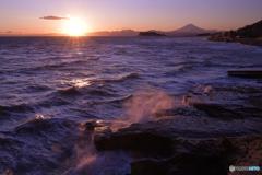 穏やかな夕照