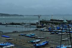 台風で護岸立入禁止