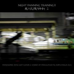 NIGHT PANNING TRAINING II   夜の流し撮り特訓 2