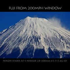 FUJI FROM 200MPH WINDOW