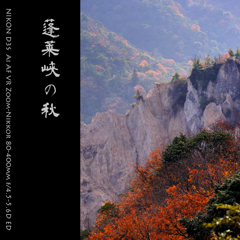蓬莱峡の秋