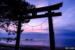 夜明けの奈多海岸