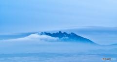 初冬の阿蘇 根子岳