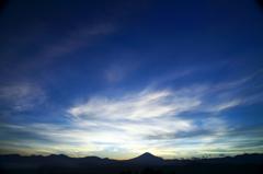癒しの青空と富士山。