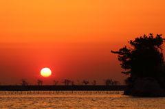 松川浦の日の出
