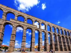 Blue sky of Segovia and its Aqueduct 2